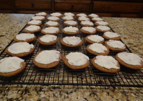 Orange Frosted Gingerbread Cookies